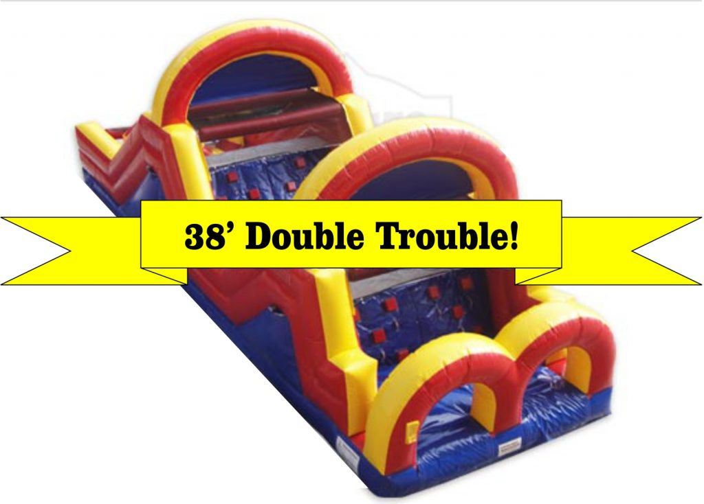 38' Double Trouble Corporate Event Obstacle Course Rental