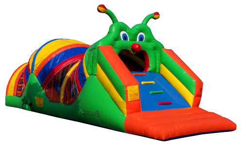 Caterpillar Craze Obstacle Course Event Rentals