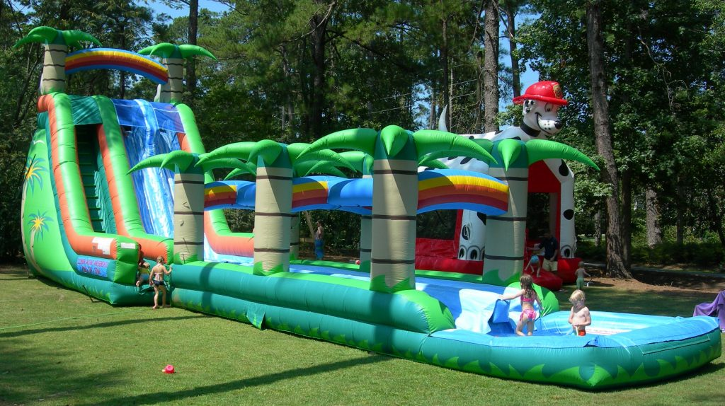 Tropical Inflatable Water Slide Rental