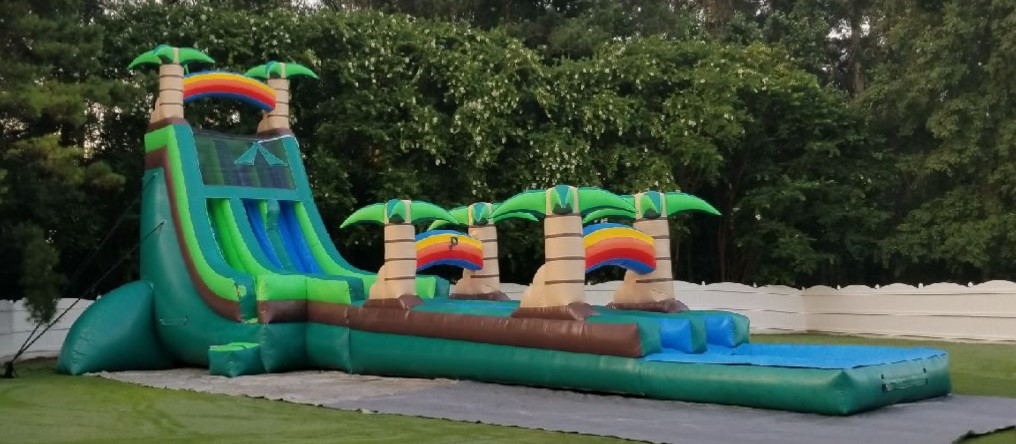 Giant Tropical Water Slide Rentals