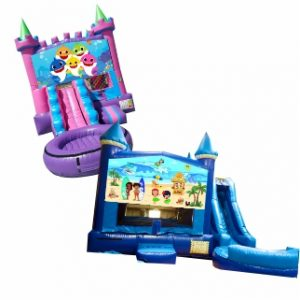 Jump and Slide Combo Water Slides