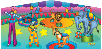 Circus themed party rentals