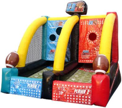 Quarterback Blitz Inflatable Football Toss Game