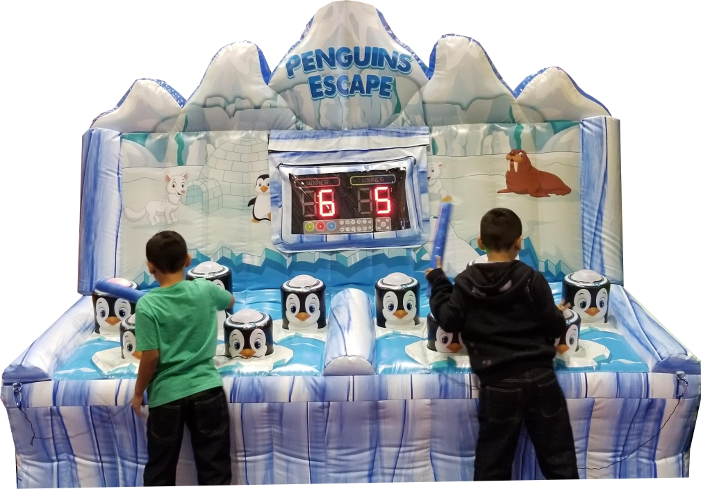 Whack a Penguin Inflatable Light Game Rental