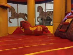 Jump and Slide Combo Bouncer Carousel Themed