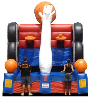Full Court Press Inflatable Basketball Sports Game Rentals