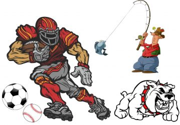 Football, Baseball, Soccer, Sports, Bulldog Themed Inflatables